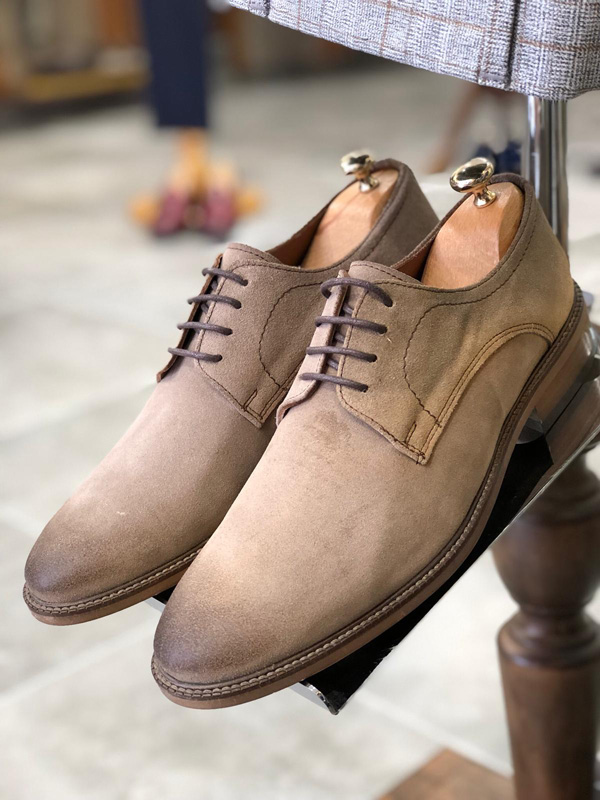 Mink Laced Oxford by GentWith.com with Free Shipping