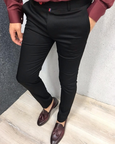 Black Slim Fit Dress Pants by GentWith.com with Free Shipping