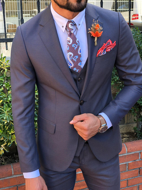 Dark Blue Slim Fit Suit by GentWith.com with Free Shipping