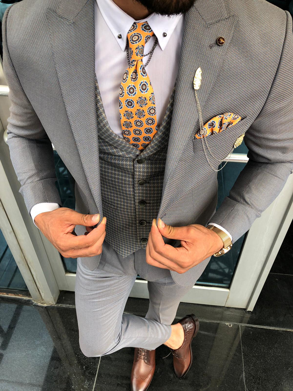 Gray Slim Fit Suit by GentWith.com with Free Shipping