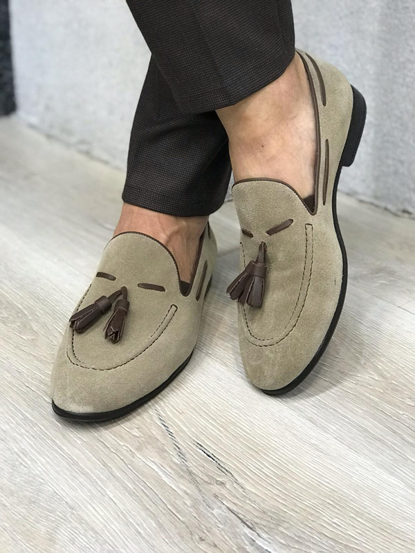 Mink Tassel Suede Loafer by GentWith.com with Free Shipping