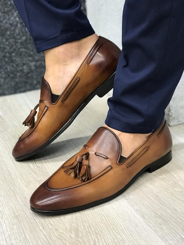 Brown Tassel Suede Loafer by GentWith.com with Free Shipping