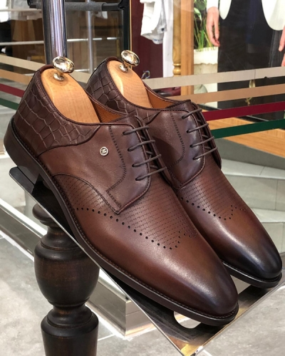 Brown Classic Laced Oxford by GentWith.com with Free Shipping