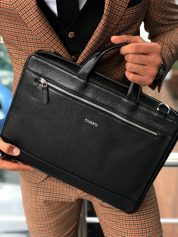 Black Leather Briefcase by GentWith.com with Free Shipping