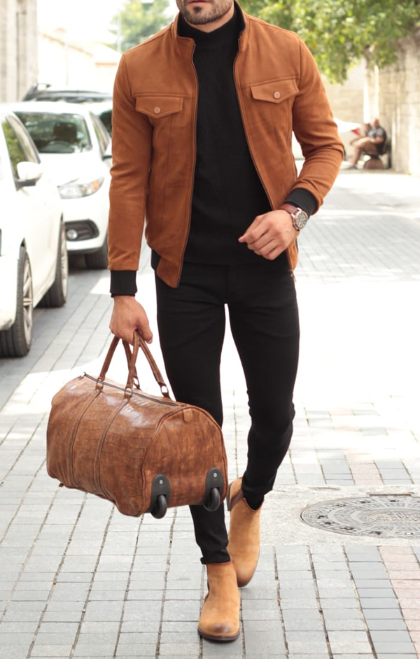 Camel Slim Fit Coat by GentWith.com with Free Shipping