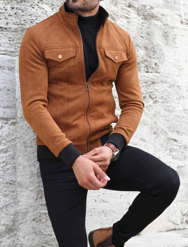 Camel Suede Coat by GentWith.com with Free Shipping