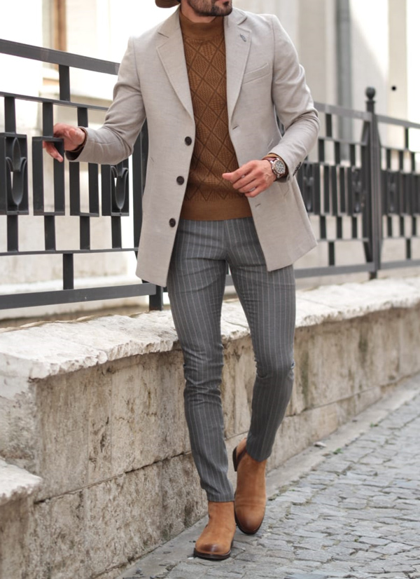 Gray Wool Coat by GentWith.com with Free Shipping