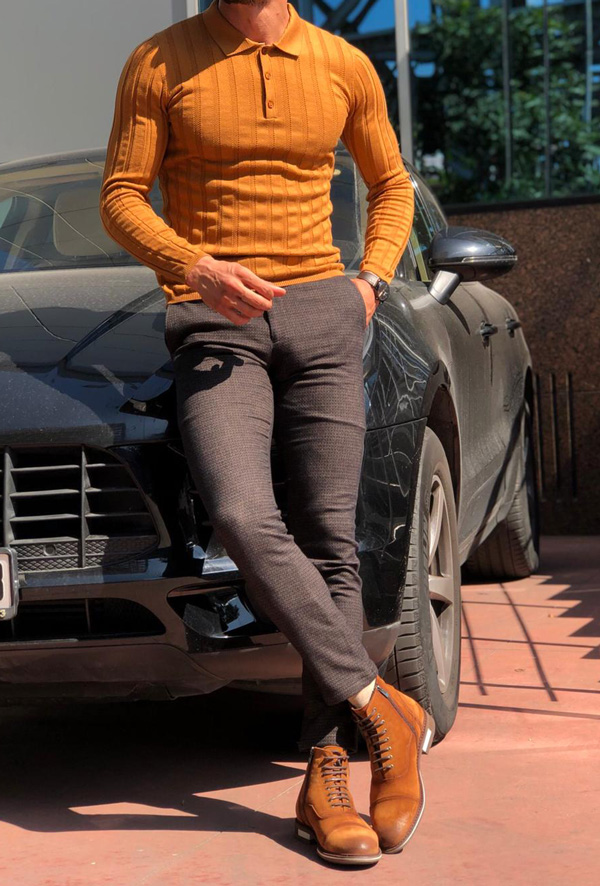 Brown Slim Fit Sweater by GentWith.com with Free Shipping