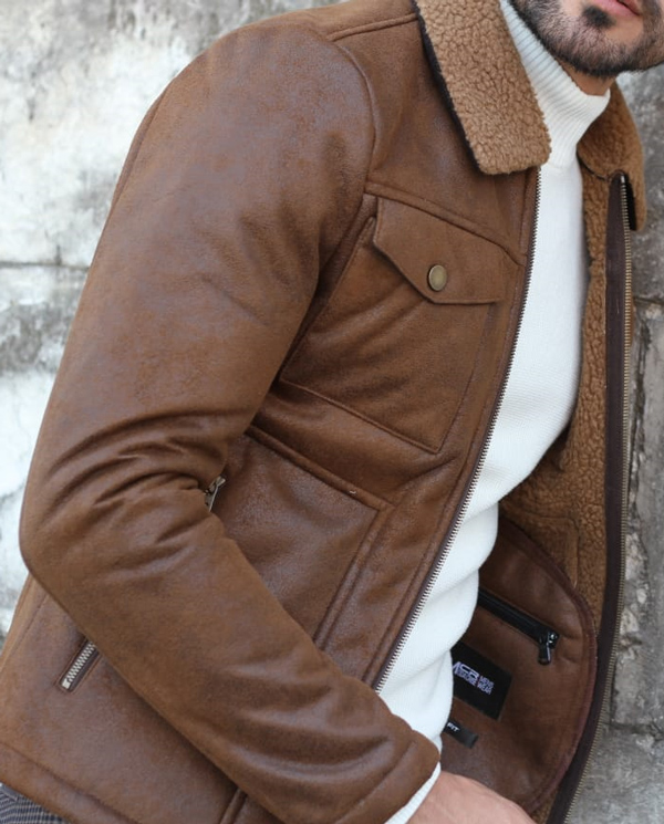 Camel Fur Collar Coat by GentWith.com with Free Shipping