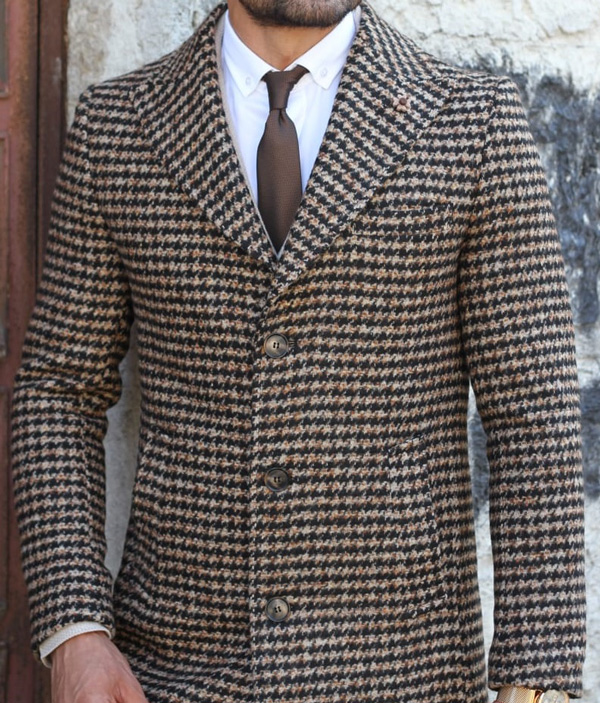 Brown Wool Coat by GentWith.com with Free Shipping