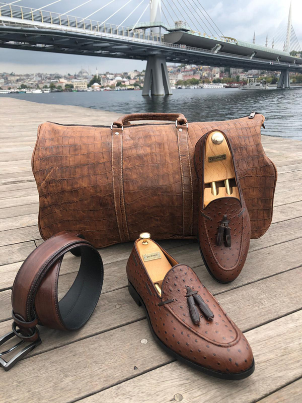 Brown Leather Tassel Loafer by GentWith.com with Free Shipping