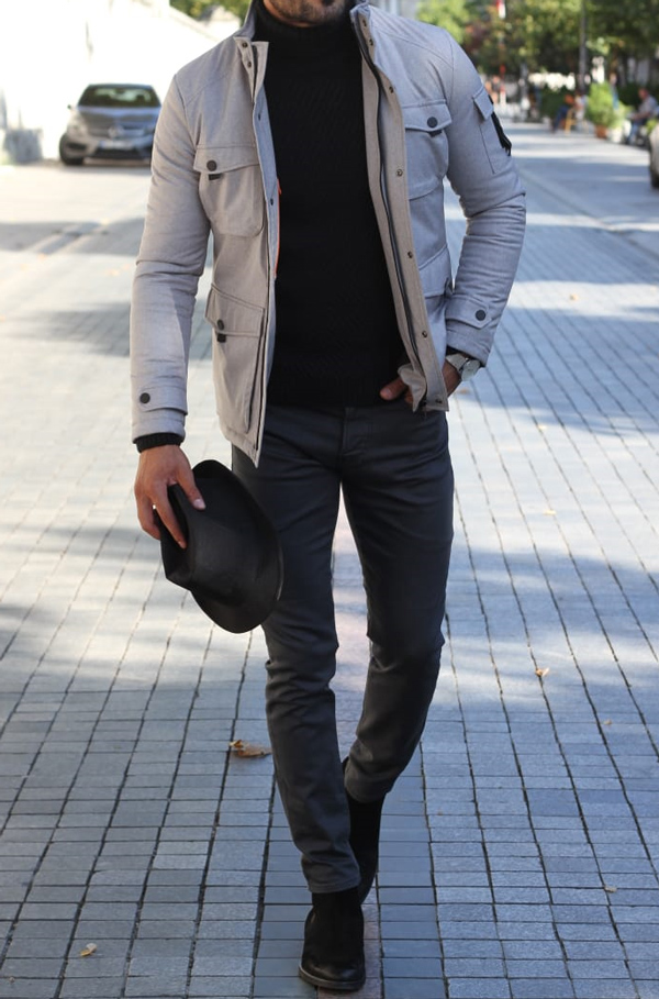 Gray Coat by GentWith.com with Free Shipping