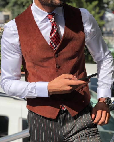 Tile Slim Fit Velvet Vest by GentWith.com with Free Shipping