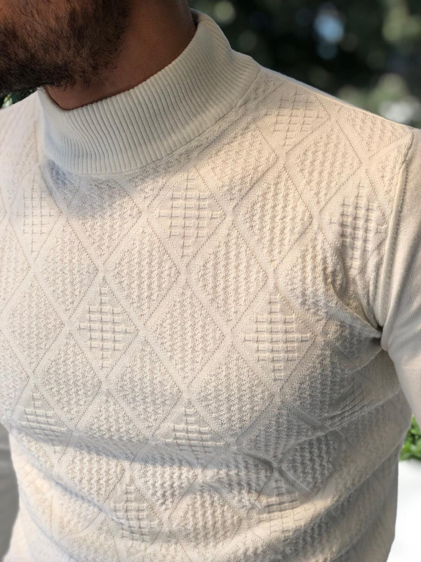 Camel Mock Neck Sweater by GentWith.com with Free Shipping