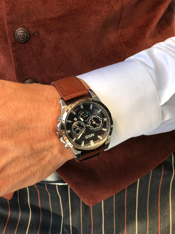 Black Round Wrist Watch by GentWith.com with Free Shipping