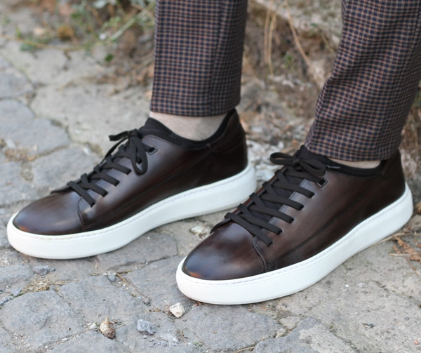 Brown Sneakers by GentWith.com with Free Shipping