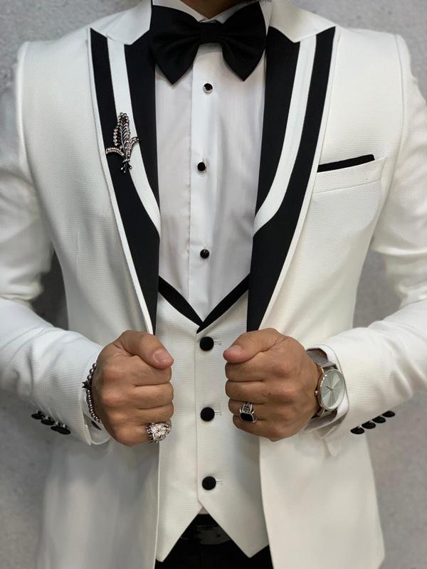 White Tuxedo by GentWith.com with Free Shipping
