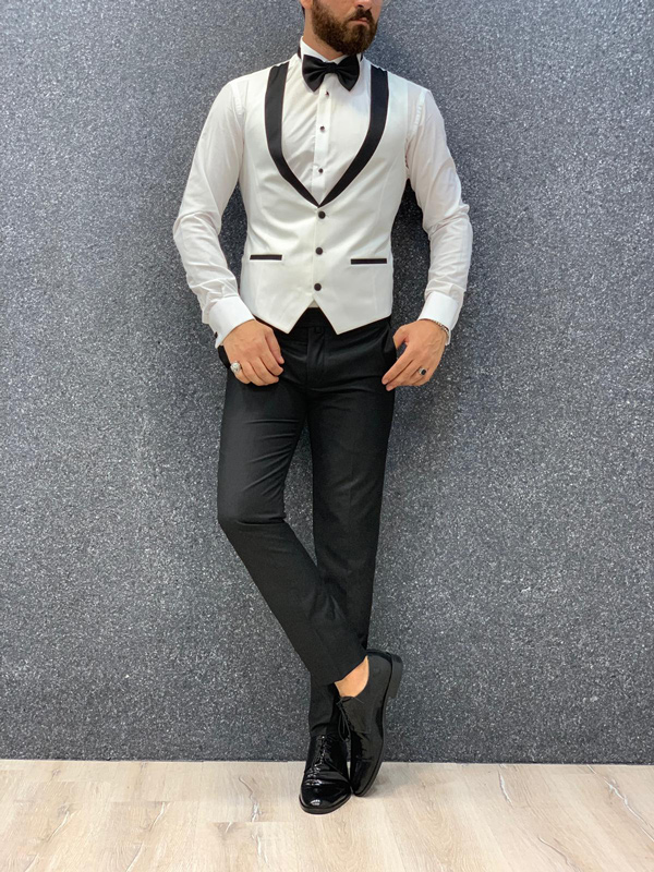 White Wedding Tuxedo by GentWith.com with Free Shipping