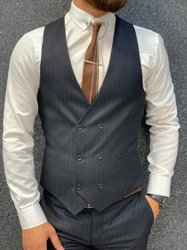 Charcoal Wool Suit by GentWith.com with Free Shipping