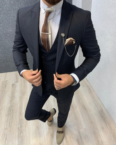 Charcoal Slim Fit Wool Suit by GentWith.com with Free Shipping