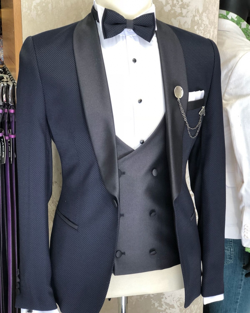 Navy Blue Tuxedo by GentWith.com with Free Shipping