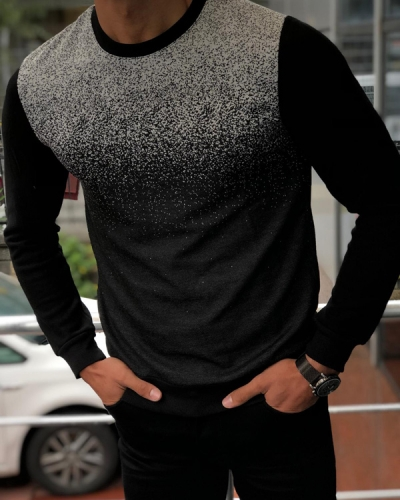 Black Slim Fit Crew Neck Sweater by GentWith.com with Free Shipping