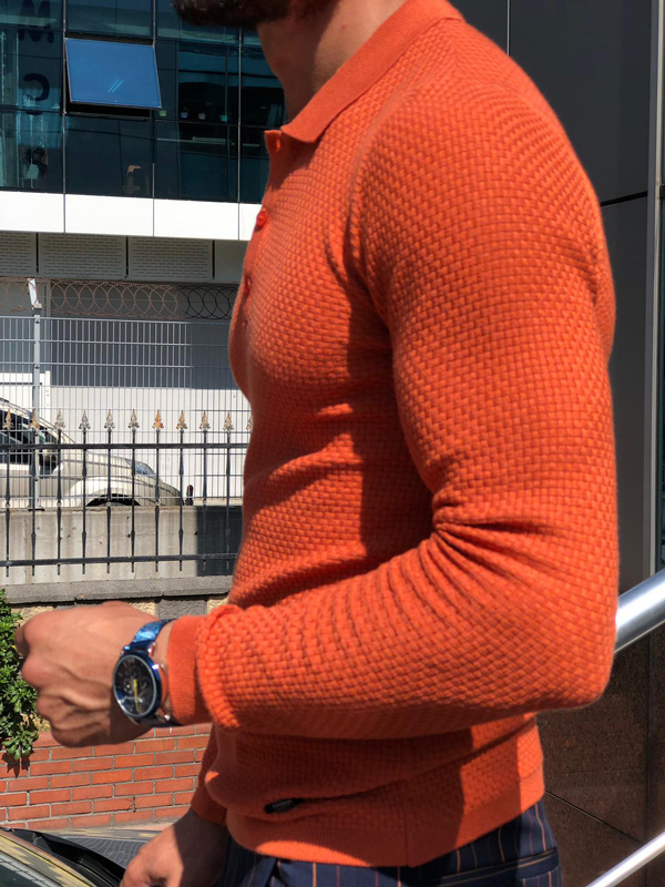 Tile Slim Fit Sweater by GentWith.com with Free Shipping