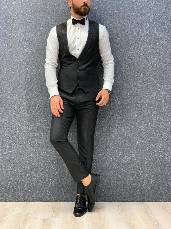 Black Wedding Tuxedo by GentWith.com with Free Shipping