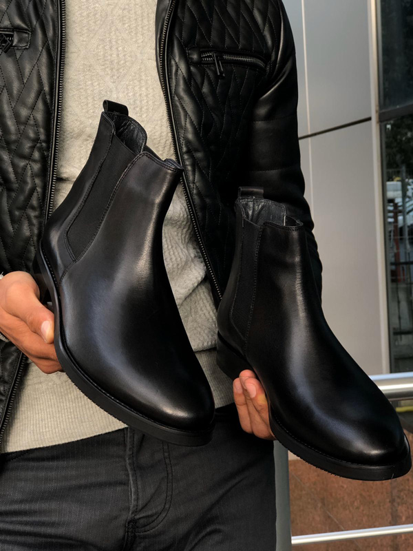 Black Chelsea Boots by GentWith.com with Free Shipping