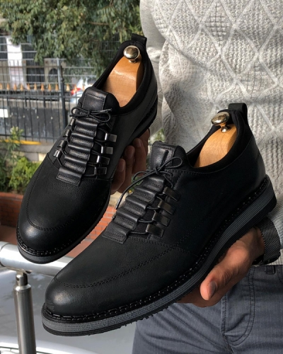 Black Lace Up Boots by GentWith.com with Free Shipping