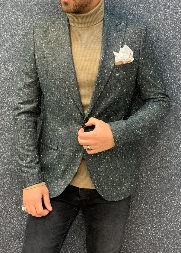 Green Slim Fit Blazer by Gentwith.com with Free Shipping