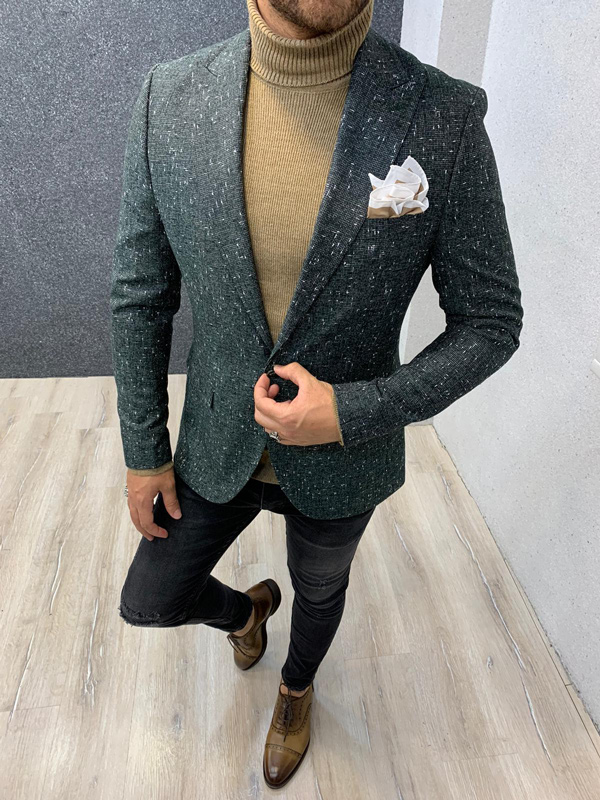 Green Blazer by Gentwith.com with Free Shipping