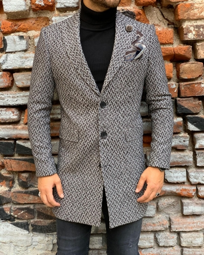 Gray Slim Fit Wool Coat by Gentwith.com with Free Shipping