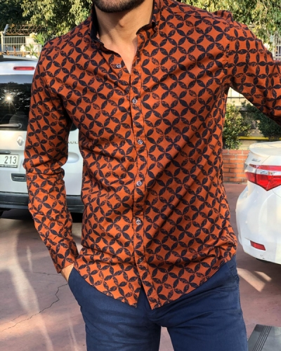 Tile Slim Fit Patterned Shirt by Gentwith.com with Free Shipping