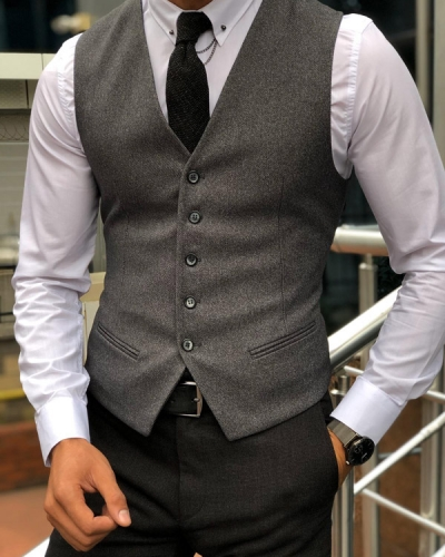 Anthracite Vest by Gentwith.com with Free Shipping