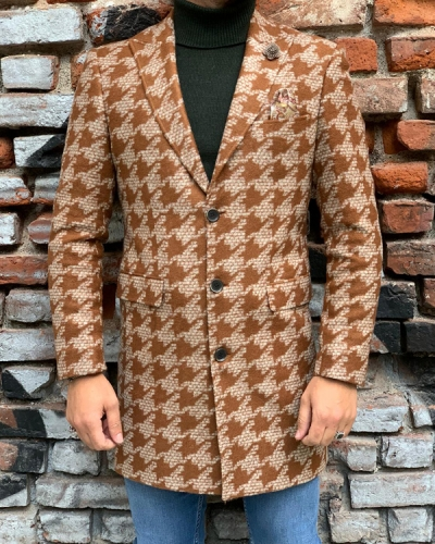 Brown Slim Fit Wool Coat by Gentwith.com with Free Shipping