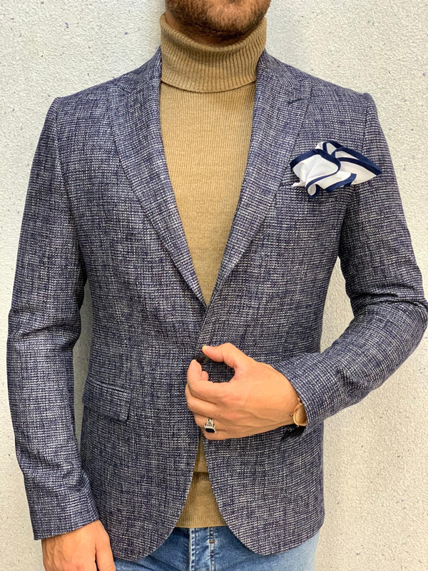 Navy Blue Blazer by Gentwith.com with Free Shipping