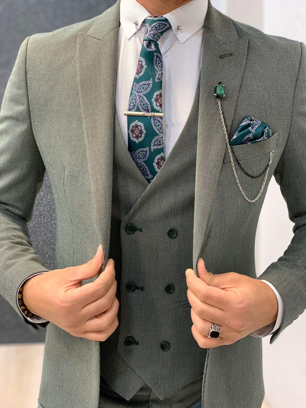 Green Wool Suit by Gentwith.com with Free Shipping
