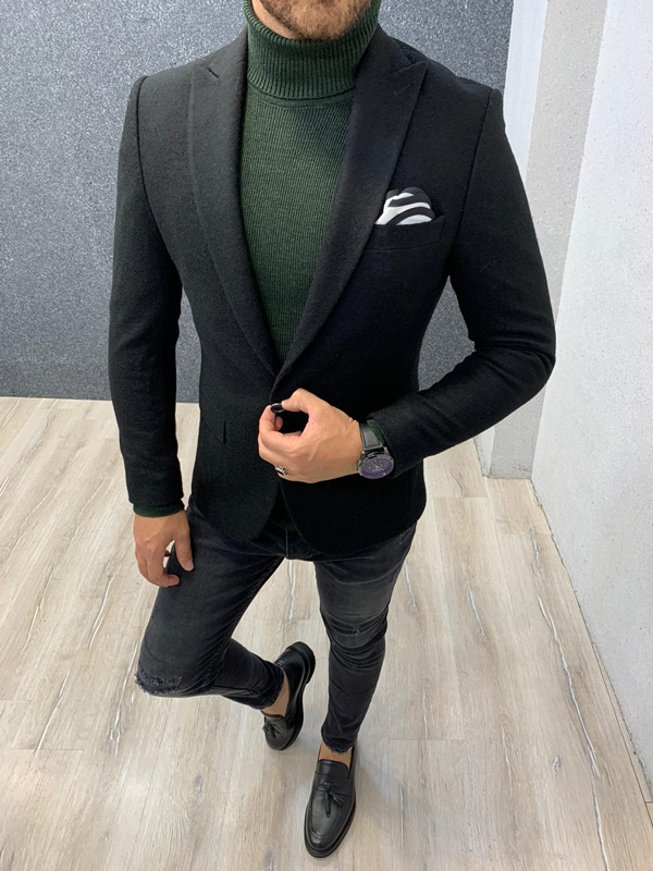 Black Blazer by Gentwith.com with Free Shipping