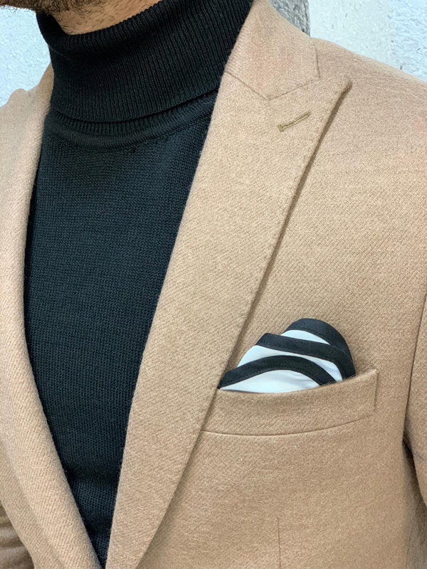 Brown Slim Fit Blazer by Gentwith.com with Free Shipping