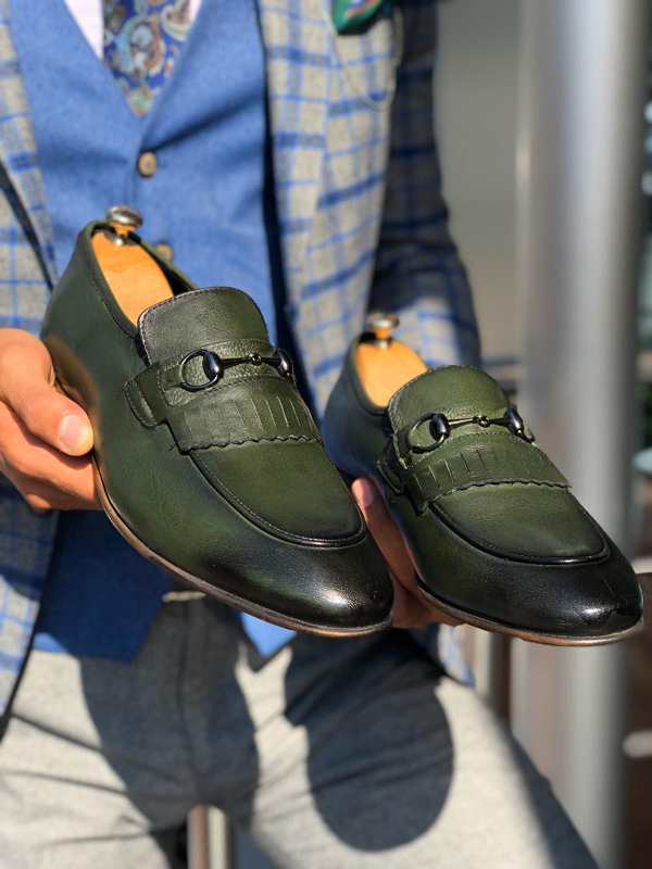 Khaki Kilt Loafer by Gentwith.com with Free Shipping