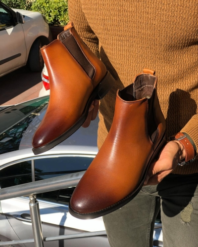 Tan Chelsea Boots by Gentwith.com with Free Shipping