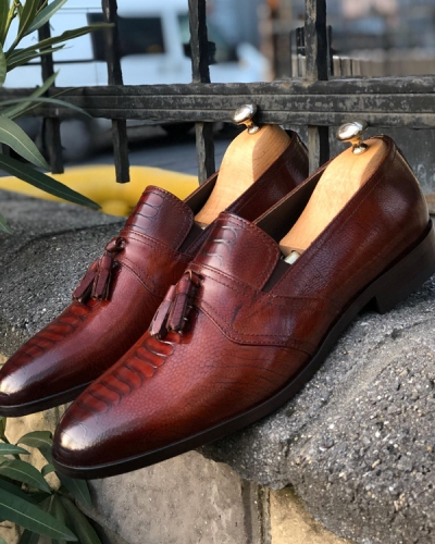 Brown Tassel Loafer by GentWith.com with Free Shipping
