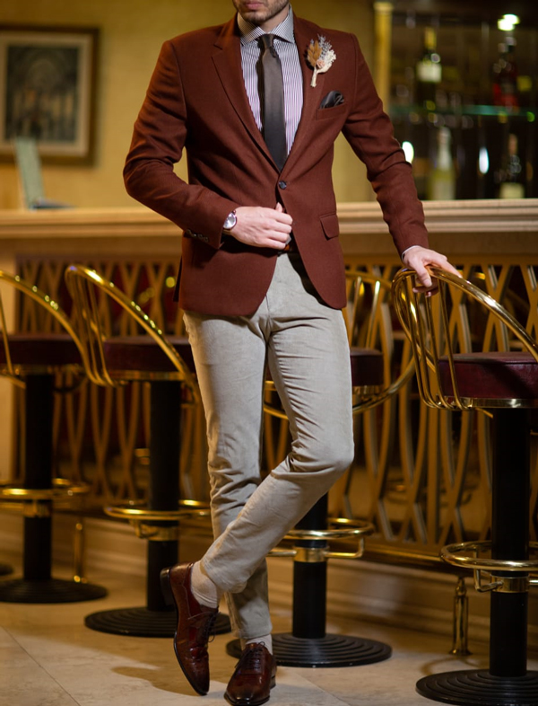 Slim Fit Brown Blazer by GentWith.com with Free Shipping Worldwide