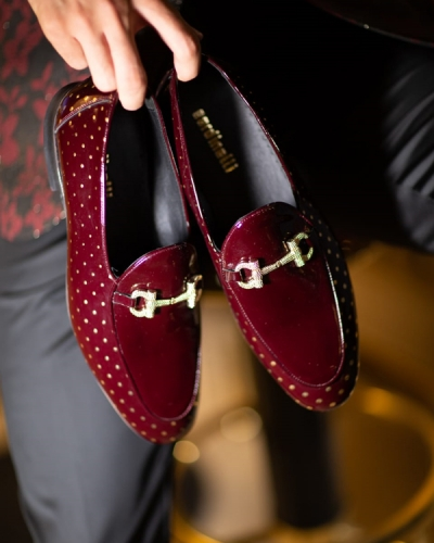 Burgundy Groom Shoes by GentWith.com with Free Shipping Worldwide