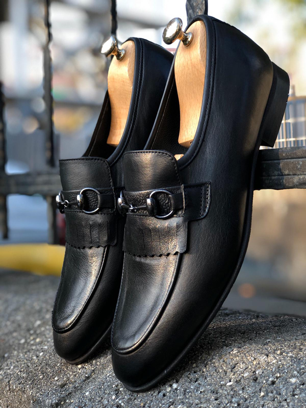 Black Kilt Loafer by GentWith.com with Free Shipping