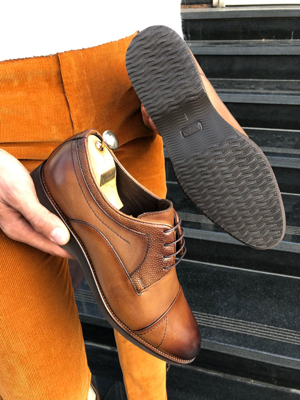 Brown Laced Derby by GentWith.com with Free Shipping