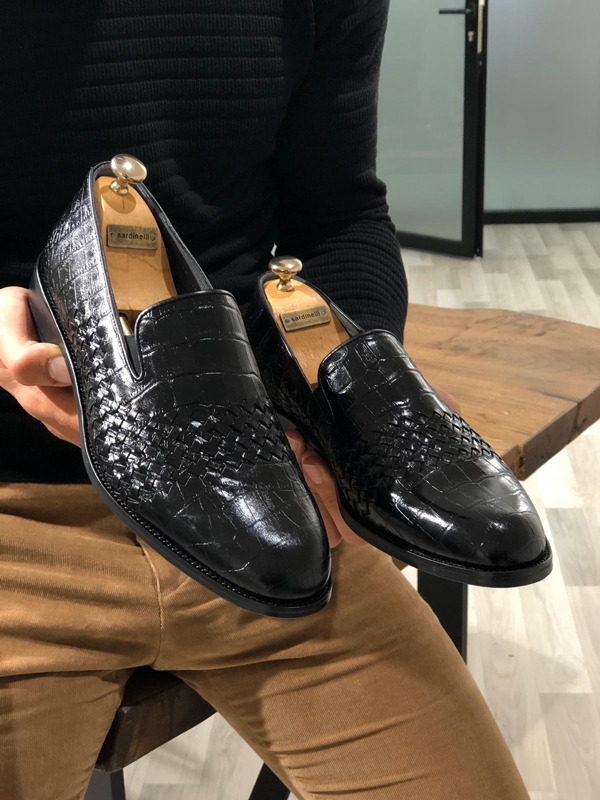 Black Leather Loafer by GentWith.com with Free Worldwide Shipping