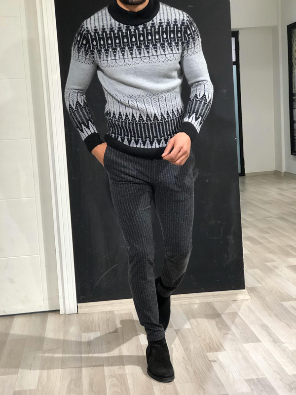 Bray Slim Fit Mock Turtleneck Sweater by GentWith.com with Free Worldwide Shipping