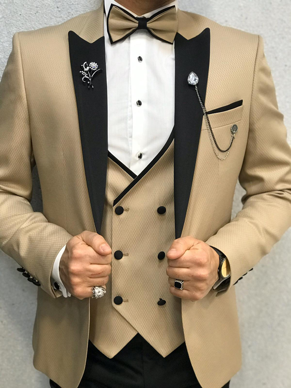Gold Tuxedo by GentWith.com with Free Worldwide Shipping